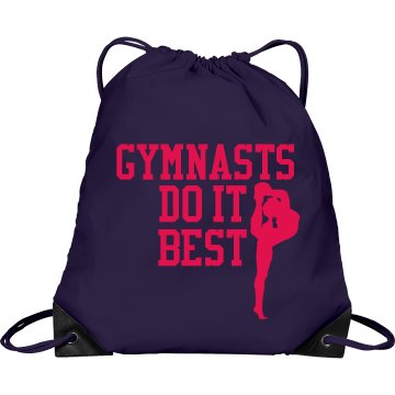 Gymnasts Do It Best Port & Company Drawstring Cinch Bag