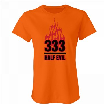 Half Evil 333 Junior Fit Bella Favorite Tee