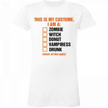 Halloween Checklist Tee