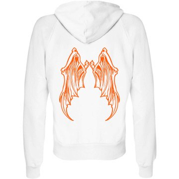 Halloween Hoodie Junior Fit Bella Fleece Raglan Full Zip Hoodie