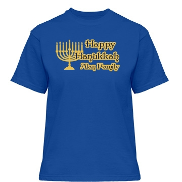 Hanukkah Celebration Misses Relaxed Fit Gildan Heavy Cotton Tee