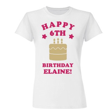 Happy 6th Birthday Elaine