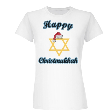 Happy Christmukkah Junior Fit Basic Bella Favorite Tee
