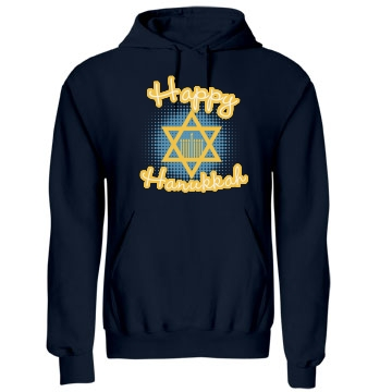 Happy Hanukkah Shirt Unisex Gildan Heavy Blend Hoodie