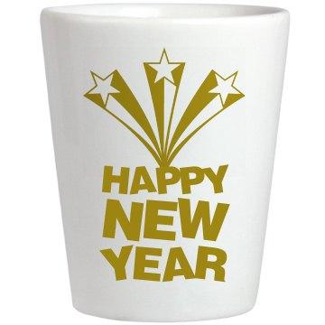 Happy New Year Shot Glass