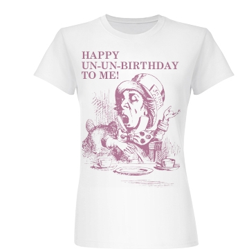 Happy Un-Un-Birthday Junior Fit Basic Bella Favorite Tee