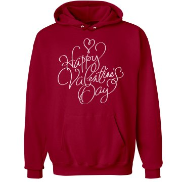 Happy Valentine's Day Unisex Hanes Ultimate Cotton Heavyweight Hoodie