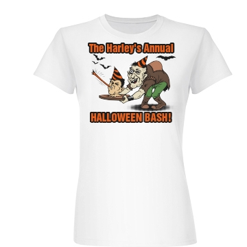 Harley Halloween Party Junior Fit Basic Bella Favorite Tee