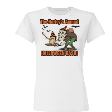 Harley Halloween Party Junior Fit Basic Tultex Fine Jersey Tee
