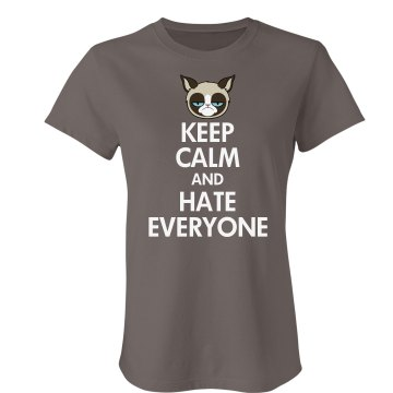 Hate Everyone Junior Fit Bella Favorite Tee