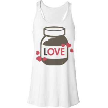 Hazelnut Chocolate Love Bella Flowy Lightweight Racerback Tank Top