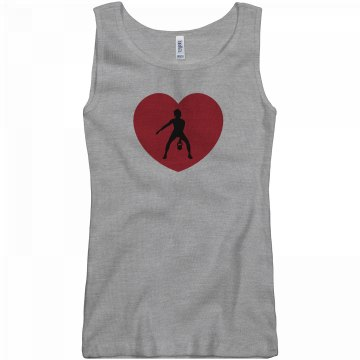 Heart Cross Fit Tank Junior Fit Basic Bella 2x1 Rib