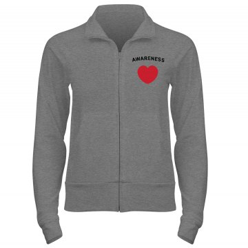 Heart Disease Help w/ Bk Junior Fit Bella Cadet Full Zip Track Jacket