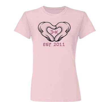 Heart Hands Love Tee Junior Fit Basic Bella Favorite Tee