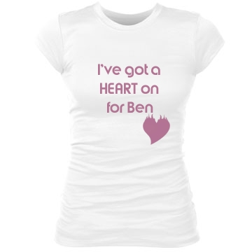 Heart On for Ben Junior Fit Bella Sheer Longer Length Rib Tee