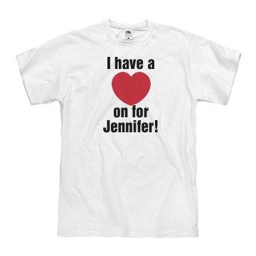 Heart on for Jennifer