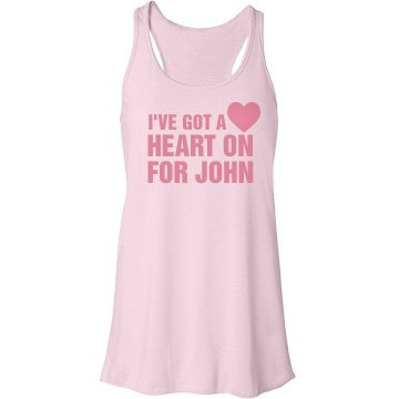 Heart On for John Bella Flowy Lightweight Racerback Tank Top