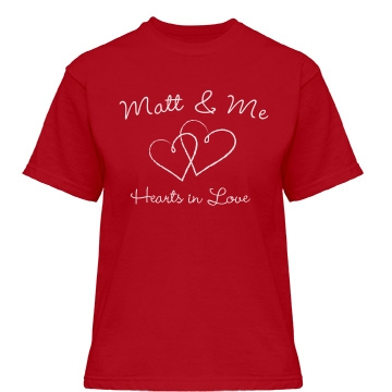 Hearts In Love Misses Relaxed Fit Gildan Heavy Cotton Tee