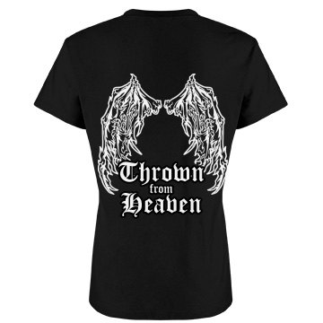 Heaven Thrown Angel Wings Junior Fit Bella Favorite Tee