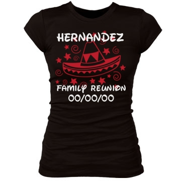 Hernandez Family Reunion Junior Fit Bella Sheer Longer Length Rib Tee