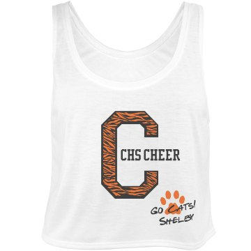 High School Cheer  Bella Flowy Boxy Lightweight Crop Top Tank Top