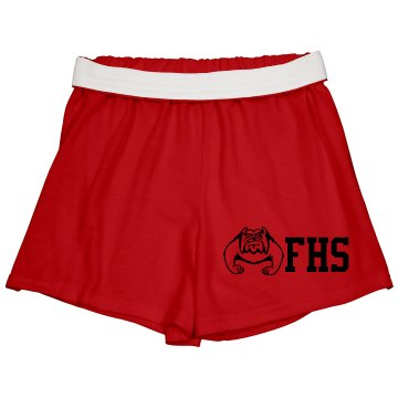High School Spirit Shorts Junior Fit Soffe Cheer Shorts