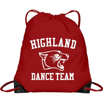 Highland Dance Team Bag Port & Company Drawstring Cinch Bag