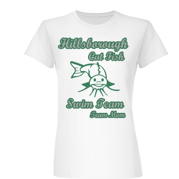 Hillsborough Swim Mom Junior Fit Basic Bella Favorite Tee