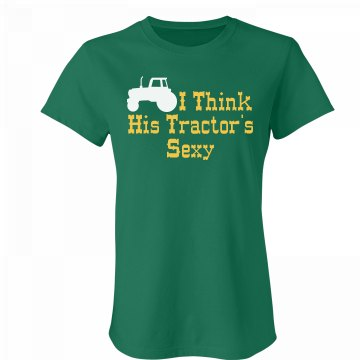 His Sexy Tractor Junior Fit Bella Favorite Tee