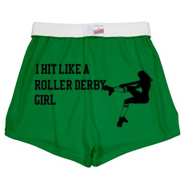 Hit Like a Derby Girl Junior Fit Soffe Cheer Shorts