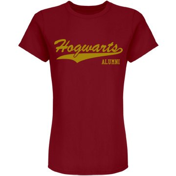 Hogwarts Alumni w/ Back Junior Fit American Apparel Fine Jersey Tee