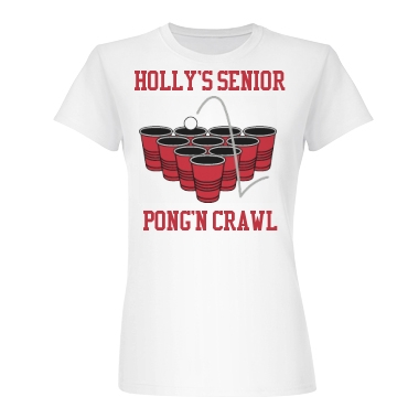 Holly's Senior  Bar Crawl Junior Fit Basic Bella Favorite Tee
