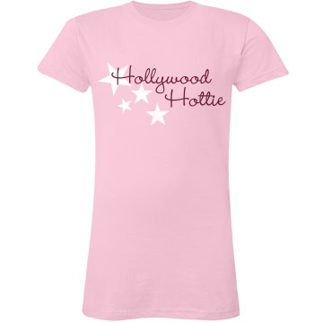 Hollywood Hottie Junior Fit LA T Fine Jersey Tee