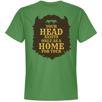 Home for Your Beard Shirt Unisex Anvil Lightweight Fashion Tee