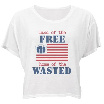 Home Of The Wasted Bella Flowy Boxy Lightweight Crop Top Tee