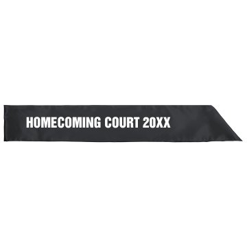 Homecoming Sash
