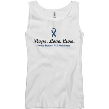 Hope Love Cure ALS Junior Fit Basi