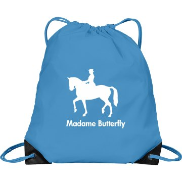 Horse Backpack Port & Company Drawstring Cinch Bag