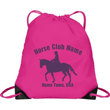 Horse Club Gear Bag Port & Company Drawstring Cinch Bag