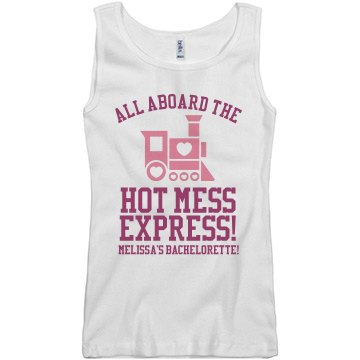 Hot Mess Express Bride Junior Fit Basic Bella 2x1 Rib Tank Top