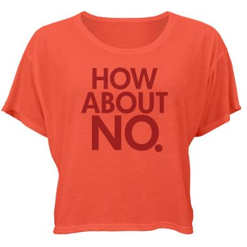 How About No Bella Flowy Boxy Lightweight Crop Top Tee