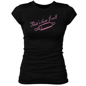 How I Roll - Rolling Pin Junior Fit Bella Sheer Longer Length Rib Tee