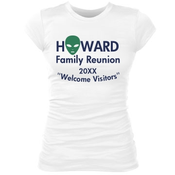 Howard Family Reunion Junior Fit Bella Sheer Longer Length Rib Tee
