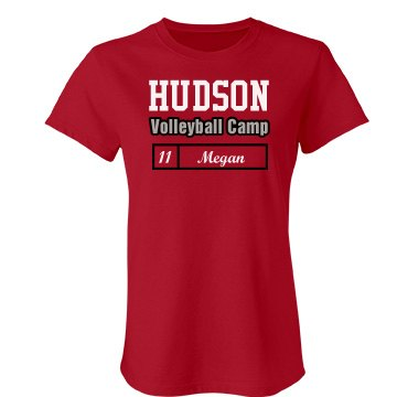 Hudson Volleyball Camp Junior Fit Bella Favorite Tee