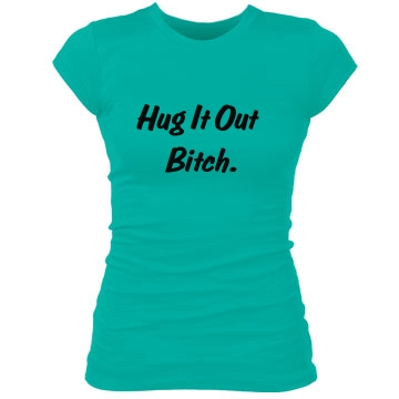 Hug it Out Junior Fit Bella Sheer Longer Length Rib Tee