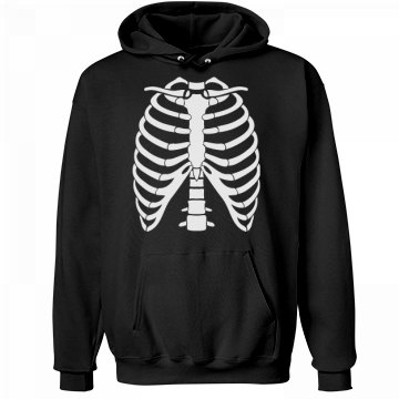 Human Skeleton Halloween Unisex Hanes Ultimate Cotton Heavyweight Hoodie
