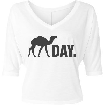 Hump Day Bella Flowy Lightweight V-Neck Half-Sleeve Tee