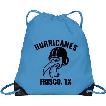 Hurricane Football Bag Port & Company Drawstring Cinch Bag