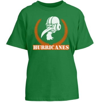 Hurricanes Crest Youth Gildan Heavy Cotton Crew Neck Tee