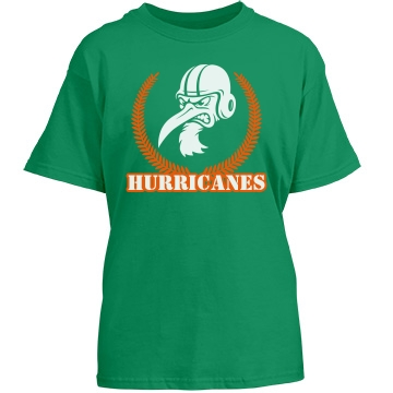 Hurricanes Crest Youth Port & Company Essential Tee